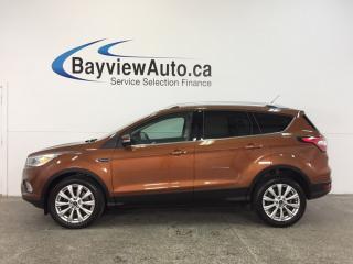 Used 2017 Ford Escape TITANIUM- ECOBOOST REM STRT LTHR NAV SONY BLIS! for sale in Belleville, ON