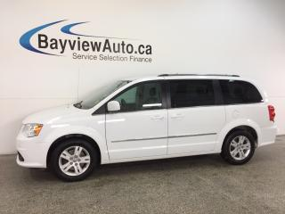 Used 2016 Dodge Grand Caravan CREW- REM STRT|HTD LTHR|DVD|NAV|PWR TRUNK|REV CAM! for sale in Belleville, ON