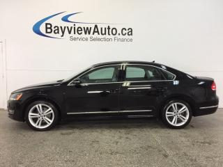 Used 2015 Volkswagen Passat HIGHLINE- TDI|REM STRT|ROOF|HTD LTHR|NAV|REV CAM! for sale in Belleville, ON