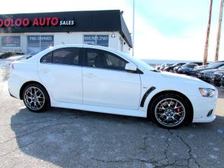 Used 2014 Mitsubishi Lancer Evolution Evolution MR PREMIUM LEATHER AND NAVIGATION for sale in Milton, ON