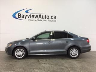 Used 2015 Volkswagen Jetta HIGHLINE- TDI|SUNROOF|HTD LTHR|BSA|REV CAM|CRUISE! for sale in Belleville, ON