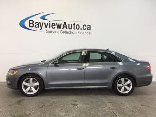 Used 2014 Volkswagen Passat COMFORTLINE- 3.6L|ROOF|HTD LTHR|BLUETOOTH|CRUISE! for sale in Belleville, ON