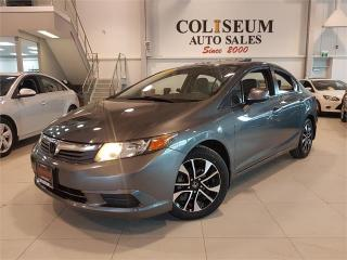 Used 2012 Honda Civic Sdn EX **MOON-ROOF-AUTO-ONLY 70KM-NO ACCIDENTS** for sale in York, ON