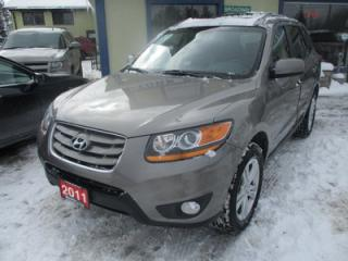 Used 2011 Hyundai Santa Fe WELL EQUIPPED GLS EDITION 5 PASSENGER 3.5L - V6.. 4WD.. LEATHER TRIM.. HEATED SEATS.. POWER SUNROOF.. CD/AUX/USB INPUT.. for sale in Bradford, ON
