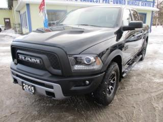Used 2015 Dodge Ram 1500 LOADED 'REBEL EDITION' 5 PASSENGER 5.7L - HEMI.. 4X4.. CREW.. SHORTY.. LEATHER.. HEATED SEATS.. NAVIGATION.. SUNROOF.. BACK-UP CAMERA.. BLUETOOTH.. for sale in Bradford, ON