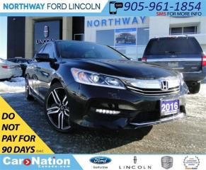 Used 2016 Honda Accord Sport | LEATHER/ CLOTH | SUNROOF | REAR CAMERA | for sale in Brantford, ON