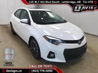 Used 2015 Toyota Corolla CE HEATED LEATHER/CLOTH, SUNROOF, BLUETOOTH for sale in Lethbridge, AB