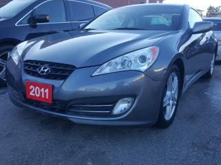 Used 2011 Hyundai Genesis Coupe LOW KM/BLUETOOTH/LEATHER/SUNROOF/AUX/HEATED SEATS for sale in Scarborough, ON