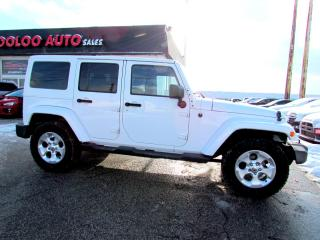 Used 2013 Jeep Wrangler Unlimited Sahara 4WD Navigation Bluetooth Certified for sale in Milton, ON