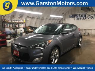 Used 2015 Hyundai Veloster COUPE w/TECH*NAVIGATION*PANORAMIC SUNROOF*BACK UP CAMERA*DIMENSION AUDIO*PUSH BUTTON TO START*HEATED FRONT SEATS*HEATED STEERING WHEEL*ECO MODE* for sale in Cambridge, ON