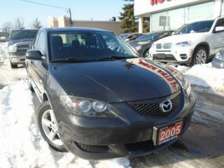 Used 2005 Mazda MAZDA3 GS  5 PASSENGERS, ,KEYLESS ENTRY , FOLDING SEATS for sale in Oakville, ON