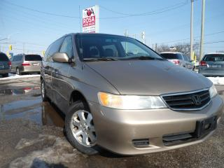 Used 2003 Honda Odyssey AUTO 7 PASS LEATHER POWER SLIDING A/C SAFETY for sale in Oakville, ON
