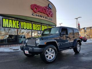 Used 2017 Jeep Wrangler SAHARA UNLIMITED NAVI HITCH LTHR 2 TOPS CHOME WHEL for sale in Scarborough, ON