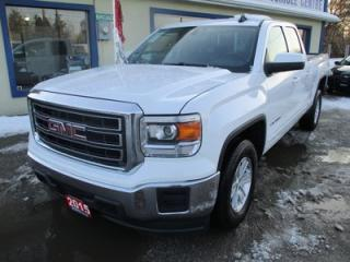 Used 2015 GMC Sierra 1500 POWER EQUIPPED SLE MODEL 6 PASSENGER 5.3L - V8.. REAR-WHEEL DRIVE.. QUAD-CAB.. SHORTY.. BACK-UP CAMERA.. CD/AUX/USB INPUT.. TRAILER BRAKE.. for sale in Bradford, ON