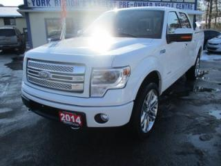 Used 2014 Ford F-150 LOADED LIMITED EDITION 5 PASSENGER 3.5L - ECO-BOOST.. 4X4.. CREW.. SHORTY.. LEATHER.. HEATED/AC SEATS.. SUNROOF.. NAVIGATION.. BACK-UP CAMERA.. for sale in Bradford, ON