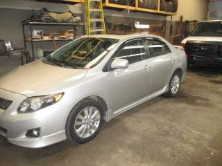 Used 2010 Toyota Corolla S 69800KM for sale in Waterloo, ON