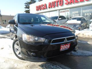 Used 2009 Mitsubishi Lancer SE LOW KM  NO ACCIDENTS, PL,PW,PM SAFETY & E TEST for sale in Oakville, ON