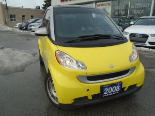 Used 2008 Smart fortwo Pure ,LOW KM, PW,PL, PANORAMIC  SUNROOF for sale in Oakville, ON