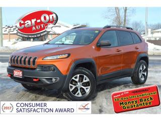 Used 2015 Jeep Cherokee Trailhawk 4X4 LEATHER NAV HTD SEATS REAR CAM for sale in Ottawa, ON