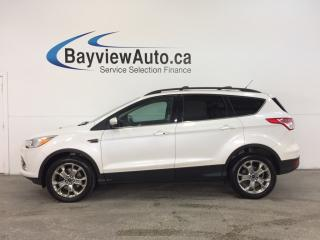 Used 2013 Ford Escape SEL- 4WD|ECOBOOST|REM STRT|ROOF|HTD LTHR|SYNC|NAV! for sale in Belleville, ON