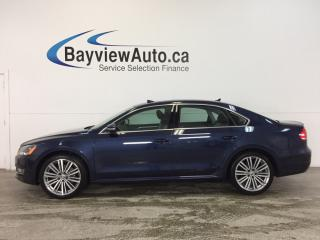 Used 2015 Volkswagen Passat COMFORTLINE- 5 SPEED|TURBO|ROOF|HTD LTHR|REV CAM! for sale in Belleville, ON