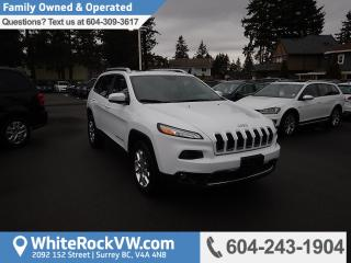 Used 2014 Jeep Cherokee Limited Rear View Camera, Heated Front Seats & Radio Data System for sale in Surrey, BC