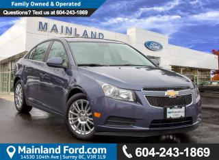 Used 2013 Chevrolet Cruze ECO BC LOCAL, LOW KMS, ACCIDENT FREE for sale in Surrey, BC
