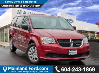 Used 2015 Dodge Grand Caravan SE/SXT ACCIDENT FREE, BC LOCAL for sale in Surrey, BC