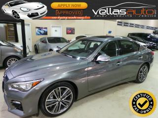 Used 2016 Infiniti Q50 S 3.0T  DELUXE TOURING  NAVI  LEATHER for sale in Woodbridge, ON