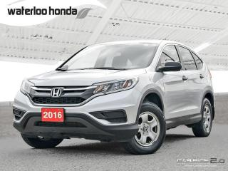 Used 2016 Honda CR-V LX Special of the Week! Bluetooth, Back Up Camera, AWD, Heated Seats and more! for sale in Waterloo, ON