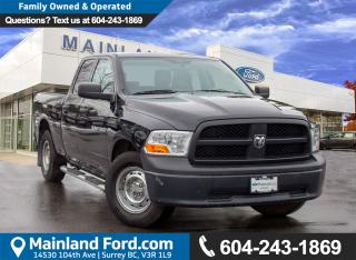 Used 2012 Dodge Ram 1500 ST LOW KMS, ACCIDENT FREE, BC LOCAL for sale in Surrey, BC
