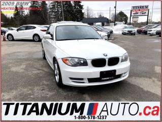 Used 2009 BMW 1 Series Sunroof+Heated Leather+New Tires & Brakes+USB & AU for sale in London, ON