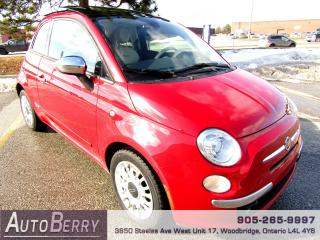 Used 2012 Fiat 500 Lounge - 5 Speed Manual for sale in Woodbridge, ON