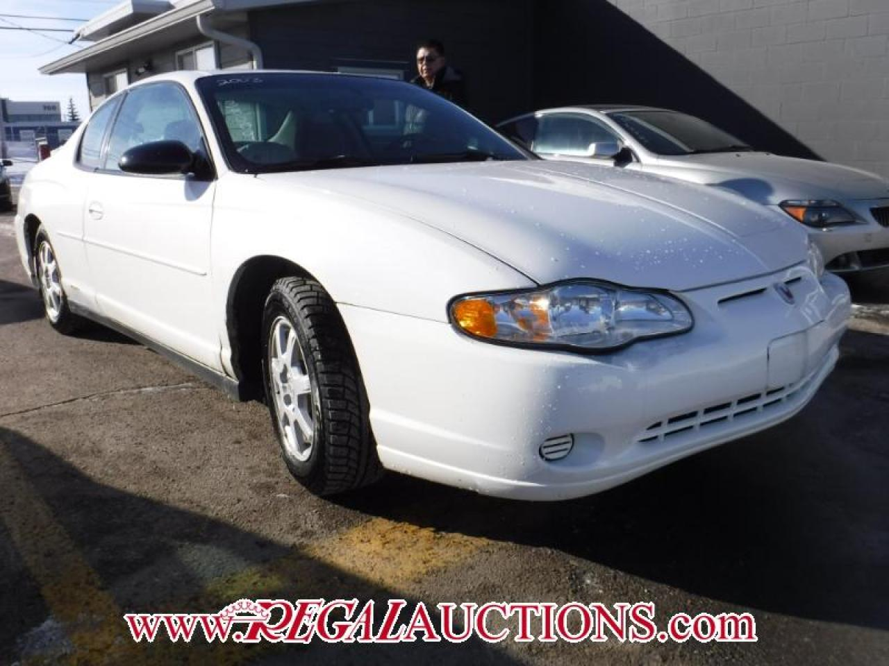 Photo of White 2003 Chevrolet MONTE CARLO  2D COUPE