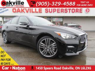Used 2014 Infiniti Q50 S Premium | LEATHER | SUNROOF | NAV | B/U CAM for sale in Oakville, ON