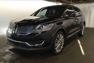 Used 2017 Lincoln MKX Reserve AWD Navi Pano Roof Bac for sale in Winnipeg, MB