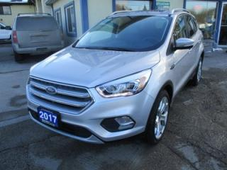 Used 2017 Ford Escape LOADED TITANIUM EDITION 5 PASSENGER 2.0L - DOHC.. 4WD.. LEATHER.. HEATED SEATS.. PANORAMIC SUNROOF.. NAVIGATION.. BACK-UP CAMERA.. for sale in Bradford, ON