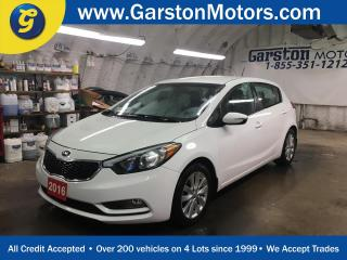 Used 2016 Kia Forte LX*HATCHBACK*KEYLESS ENTRY*POWER WINDOWS/LOCKS/MIRRORS*PHONE CONNECT*CRUISE CONTROL*CLIMATE CONTROL*FOG LIGHTS*HEATED FRONT SEATS*AM/FM/XM/CD/AUX/USB/BLUETOOTH*TRACTION CONTROL*ECO MODE*ALLOYS* for sale in Cambridge, ON