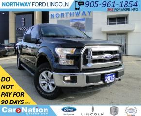 Used 2015 Ford F-150 XLT | CREW CAB | REAR CAMEA | BLUETOOTH | for sale in Brantford, ON