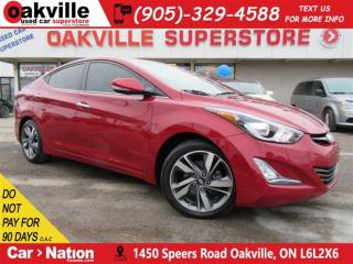 Used 2016 Hyundai Elantra Limited | LEATHER | SUNROOF | NAVI | B/U CAM for sale in Oakville, ON