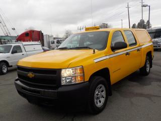 Used 2013 Chevrolet Silverado 1500 Work Truck Crew Cab Short Box 4WD Canopy for sale in Burnaby, BC