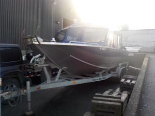 Used 2006 Custom Weld 22 Foot Aluminum Boat With Kodiak Vortec 8100 Jet Engine and Karavan Trailer for sale in Burnaby, BC
