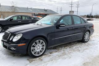 Used 2008 Mercedes-Benz E-Class E350 AWD Well-maintained in ex for sale in Winnipeg, MB