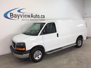 Used 2016 GMC Savana 2500 - 4.8L|A/C|CRUISE|STEERING WHEEL CTRLS! for sale in Belleville, ON