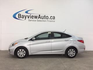 Used 2016 Hyundai Accent - 1.6L|AUTO|HTD STS|A/C|BLUETOOTH|CRUISE! for sale in Belleville, ON