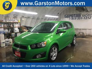 Used 2015 Chevrolet Sonic LT*BACK UP CAMERA*POWER SUNROOF*POWER WINDOWS/LOCKS/MIRRORS*HEATED FRONT SEATS*CLIMATE CONTROL*CRUISE CONTROL*MY LINK PHONE CONNECT*ALLOYS*FOG LIGHTS*AM/FM/XM/CD/AUX/USB/BLUETOOTH*TRACTION CONTROL* for sale in Cambridge, ON