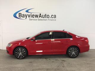 Used 2014 Volkswagen Jetta HIGHLINE- TURBO|TINT|SUNROOF|HTD LTHR|BLUETOOTH! for sale in Belleville, ON