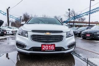Used 2016 Chevrolet Cruze LT/NO ACCIDENT/1 OWNER/REMOTE START/GAS SAVER for sale in Brampton, ON