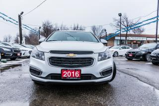 Used 2016 Chevrolet Cruze 2LT/LEATHER/SUNROOF/NO ACCIDENT/ALLOYS/BACKUP CAM for sale in Brampton, ON