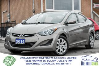 Used 2014 Hyundai Elantra GL BLUETOOTH HEATED SEAT POWER GROUP for sale in Caledon, ON